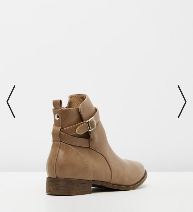 Taupe Cayla Ankle Boots