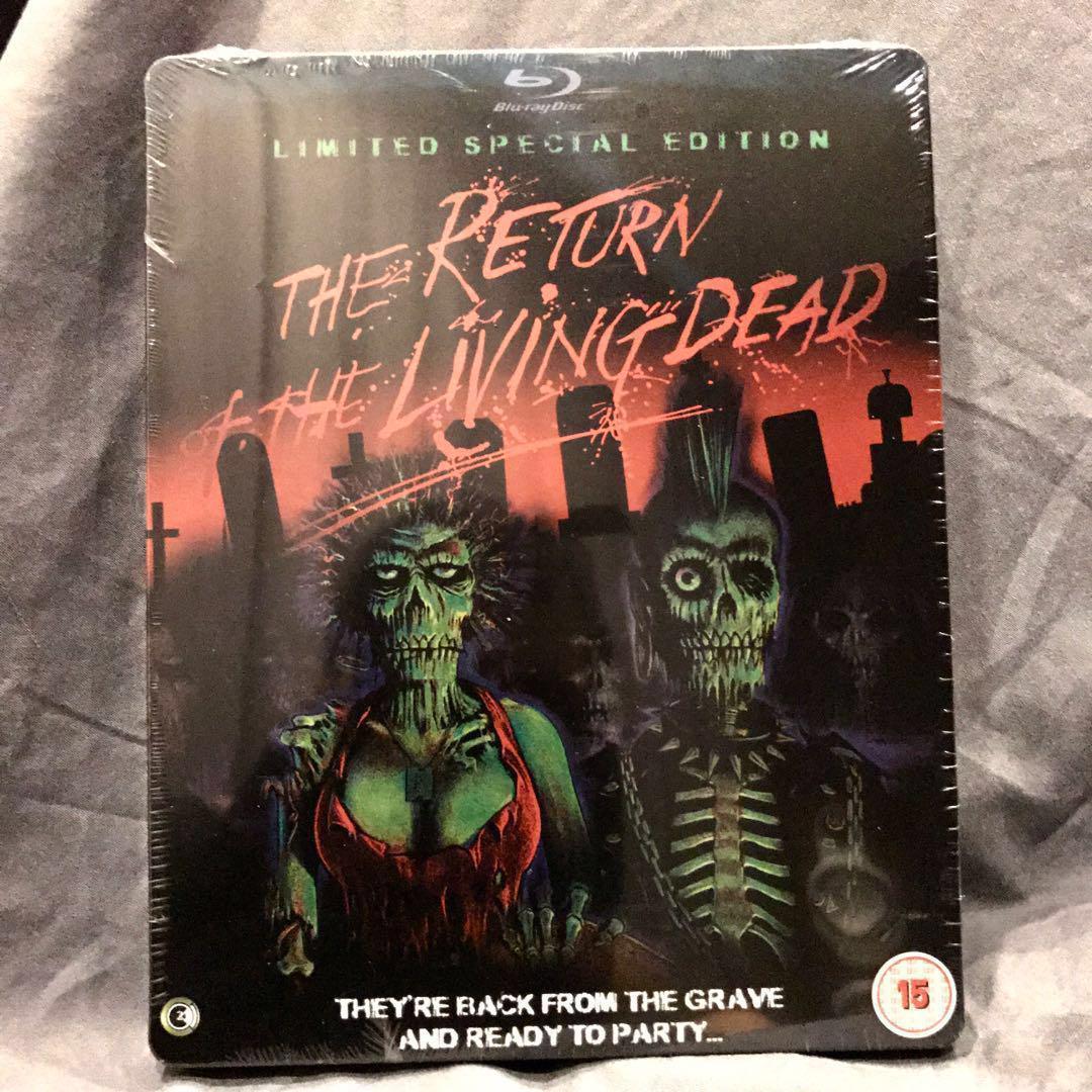 THE RETURN OF THE LIVING DEAD Blu-ray Steelbook UK Bluray BRAND NEW SEALED OOP