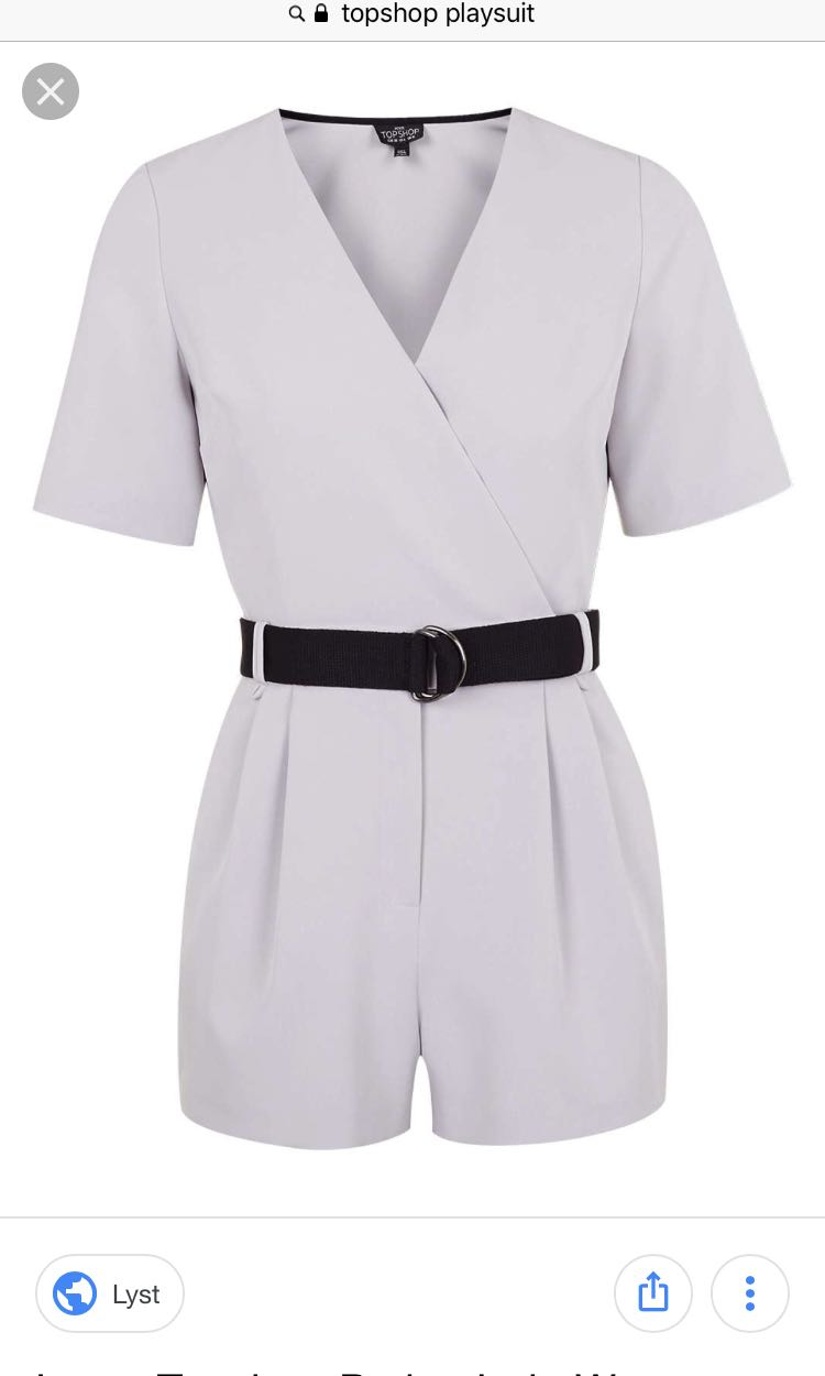ed7c574be1 Topshop petite judo wrap play suit in natural