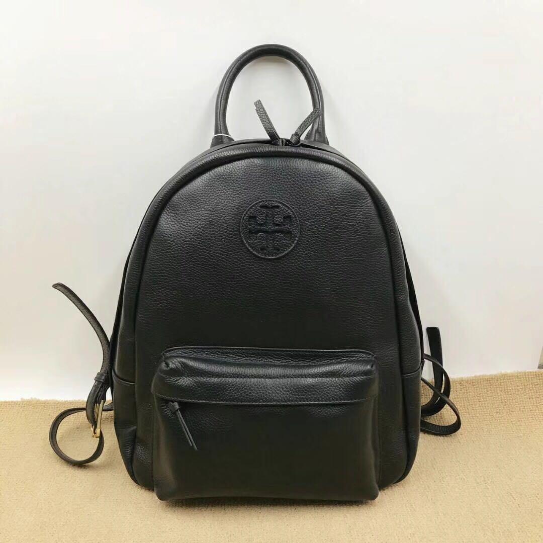 ce016db23248 Tory Burch Leather Black Plain Beautiful Backpack