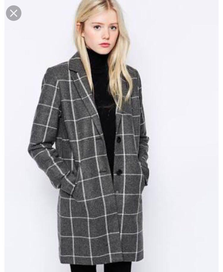 Vero Moda grey check jacket