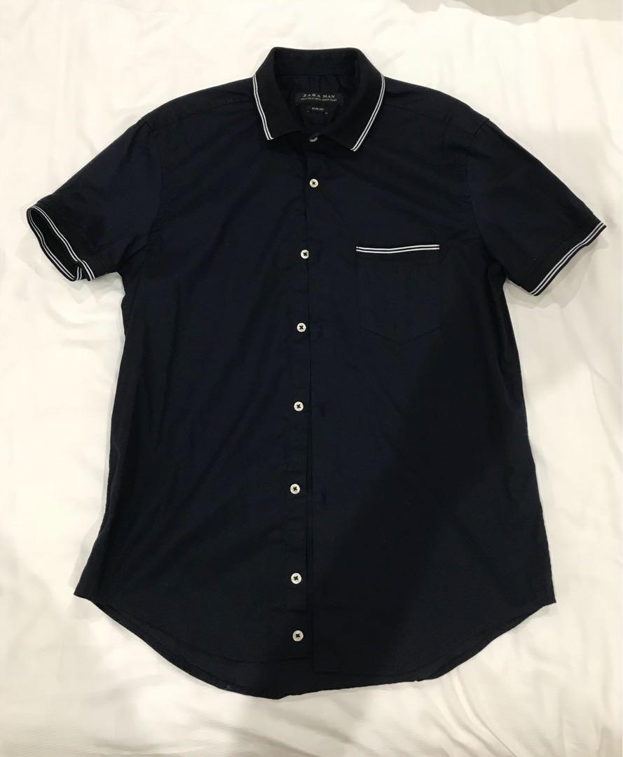 569572ecac Zara Man Shirt, Men's Fashion, Clothes, Tops on Carousell