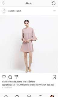 Iconettecloset hummington casua dress dusty pink NEW zara lookalike