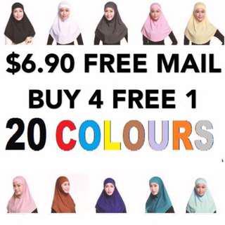 FREE MAIL Instant 2-Piece Tudung hijab