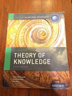 IB Theory of Knowledge TOK book