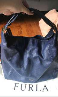 Authentic Furla Hobo Navy Blue Handbag