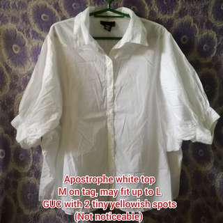 Apostrophe white button down