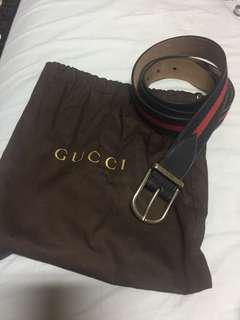 Gucci Web Leather Belt for Men
