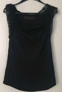 B+ab黑色lace䄂上衣