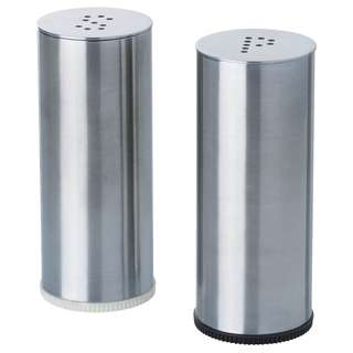 IKEA PLATS Salt/pepper shaker, set of 2, stainless steel