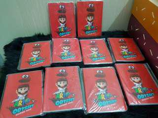 Super Mario Odyssey Passport Cover and Notebook Bundle of 10 pcs