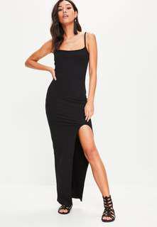 BNWT MISSGUIDED Split Thigh Maxi Dress