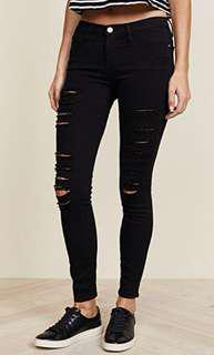 Black ripped Skinny Cotton Jean / Jegging
