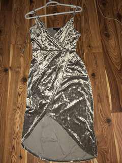Dynamite Velour Wrap Dress