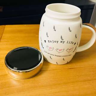 BNIB Ceramic Cup with lid