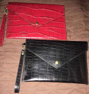 Clutch  / wallet with wrist strap
