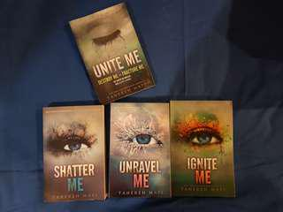 Shatter Me series by Tahereh Mafi (book 1-3)