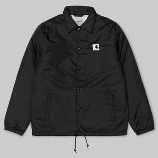 🚚 [M號] CARHARTT WIP PILE COACH JACKET 黑色 經典LOGO 教練外套 夾克 刷毛 保暖