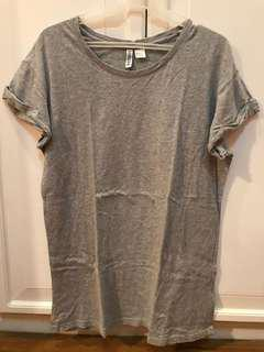 H&M Gray Long Shirt