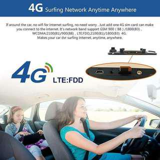 7inches 4g android type with GPS navigation dash camera