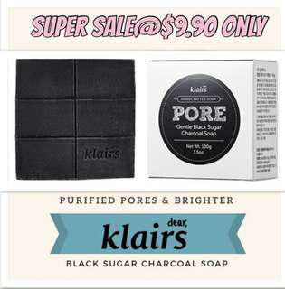 Cheapest! Klairs charcoal soap bar