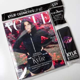 Vogue Australia Sep 18 + Kylie Lip Kit in shade Wicked