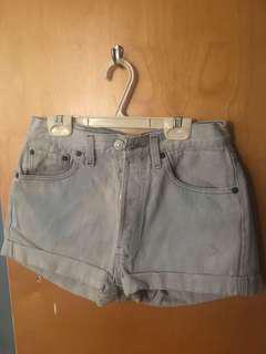 Levi Light Wash Shorts