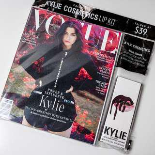Vogue Australia Sept 18 + Kylie Lip Kit in Shade Vixen