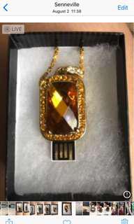 Jewelry USB key 4gb necklace