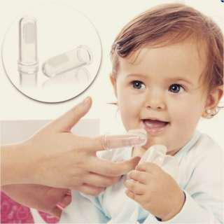 Shamrock Baby Silicone Tooth Brush With Hygienic Case (Light Blue)(Ready Stock)