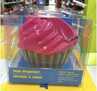 Cupcake scotch tape dispenser