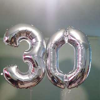 """40"""" Number Foil Helium Balloons"""