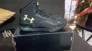 Under Armour Curry 1 Black Gold Banner