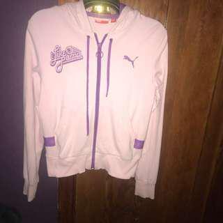 pink puma jacket size 8