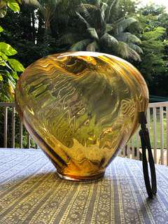 Huge new Amber glass vase from Galleria