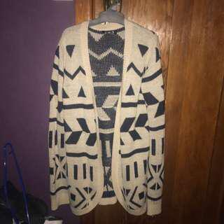 patterned cardigan size medium