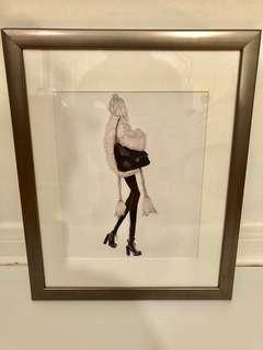 CHANEL Fashion Girl Art - 15 by 12 inches