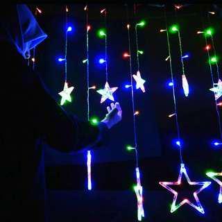 Lampu hias tirai bintang