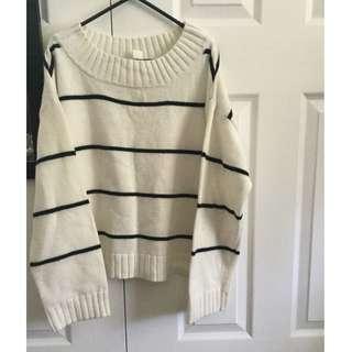 H&M Striped Sweater (Size M)