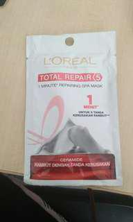 (Barter) L'oreal paris total repair hair spa mask
