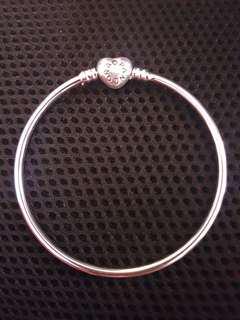 Pandora Inspired bangle with dangling charms