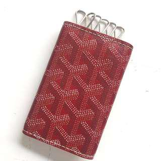 #MauiPhoneX Preloved Very Good Condition Goyard Car Key Wallet (6 keys) in Red Monogram