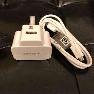 Samsung Charger Adapter w/ Micro USB cable 插頭 Micro USB 線