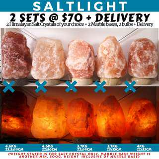 🚚 AUTHENTIC HIMALAYAN CRYSTAL SALT LAMPS | 84 MINERALS BENEFICIAL TO HUMAN BODY | 2 SETS FOR ONLY $70 + DELIVERY | CLEANSE AND PURIFY AIR