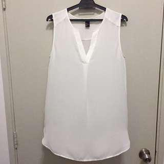 Authentic H&M Sleeveless White Tunic Top US 6