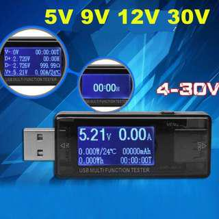 USB safety tester LCD charger voltage current meter battery power detector