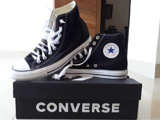 SEPATU CONVERSE ALL STAR high ORIGINAL BLACK AND WHITE, 100%