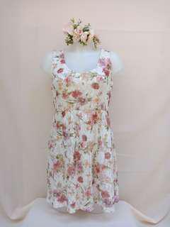 F21 Floral Lace Dress