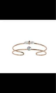 Samantha Wills cuff rose gold bracelet 14K Rosegold with freshwater grey pearl RRP $189