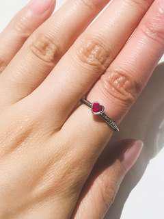 Pandora 心心石戒指